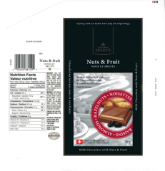 Canada - Safeway Select - Milk chocolate with nuts and fruits