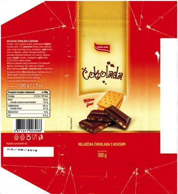 Bosnia and Herzegovina - Ultra Plus - milk chocolate with cookies