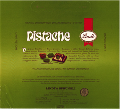 West Germany - Lindt - Pistache / Pistazie