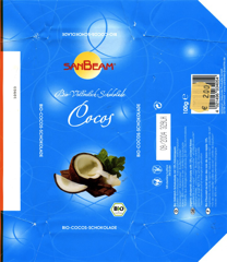 Germany - Sanbeam - Cocos / organic wholemilk chocolate with coconut flakes