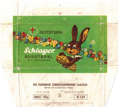 East Germany  - Schlager Süsstafel (Rotstern) - Chocolate with Peanuts