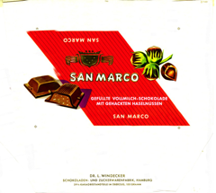West Germany - San Marco - Filled Milk Chocolate with Hazelnuts