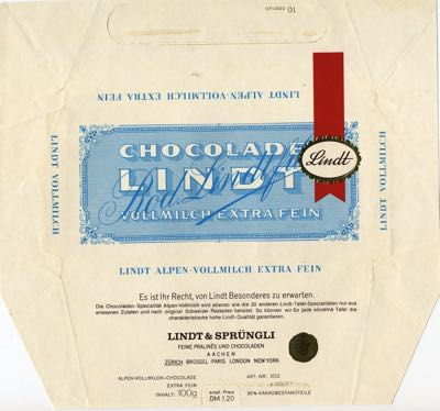Germany - Lindt - Alpenmilk Chocolate
