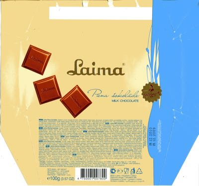 Latvia - Laima - Milk Chocolate